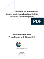 Report Inclusione Rom in Italia 2012