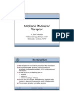 analog communication:- am reception