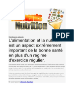 Aliments Nutrition