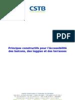 Principes Constructifs Pour l Accessibilite Des Balcons Des Loggias Et Des Terrasses
