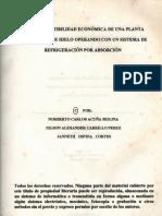 DISEÑO Y FACTIBILIDAD ECONÓMICA DE UNA PLANTA PRODUCTORA DE HIELO