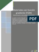 Aproximacion a Los Materiales Con Funcion Gradiente (FGM)