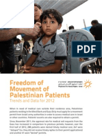 Freedom of Movement of Palestinian Patiants - Trends and Data 2012 (Eng)