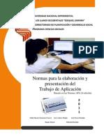 Normas Nueva Trabajo de Aplicación 2012 (1) UNELLEZ