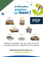 Campagne Tri Papier - Flyer Mémo-tri A5
