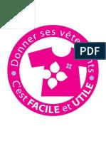 Campagne Filière Textile - Autocollant Borne de Collecte