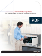 Toner Cartridge Page Yields
