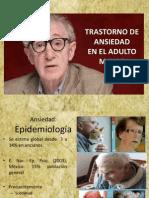Trastorno de Ansiedad Generalizada en El Anciano