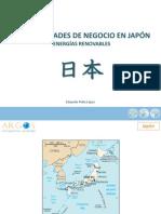 Energias Renovables - Oportunidades de negocio en Japón -