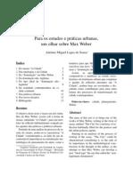 Sousa Miguel Olhar Sobre Max Weber