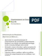 AULA 01 - Comportamento Do Consumidor(1)