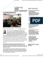 Teachers Flock to Northwestern University for 'Marxist Conferen