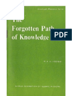 The Forgotten Path of Knowledge
