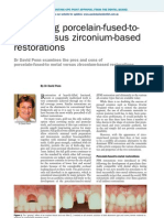 No31 Comparing Porcelain-fused-To-metal Versus Zirconium-based Restorations