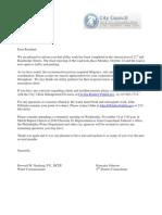 21st and Bainbridge Final Update Letter