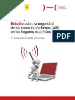 Estudio sobre la seguridad de las redes inalámbricas (wifi) en los hogares españoles, 1er cuatrimestre de 2012
