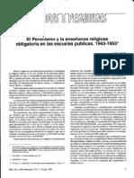 ENSEÑANZA RELIGIOSA EN LAS ESCUELAS PUBLICAS (1943-55)