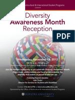 November 14, 2012 - Diversity Awareness Month Reception