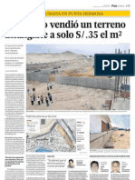 Municipalidad de Punta Hermosa vendió un terreno intangible a S/.35 el m2