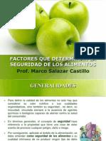 Factores Que Determinan La Seguridad de Los Alimentos
