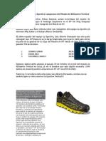 Urban Zemmer de La Sportiva Campeon Del Mundo de Kilometro Vertical. Skyrunning 2012 Nota prensa oficial 13nov12