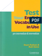 Test Vocabulary in Use Elementary