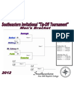 2012 Southeastern TIp Off Basketball Tournament Brackets - Men