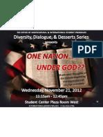 November 21, 2012 - One Nation... Under God??
