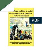 Considerant Victor - Manifiesto de La Democracia Pacifica