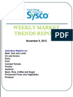 Sysco Weekly Market Trends Report 11/9/2012