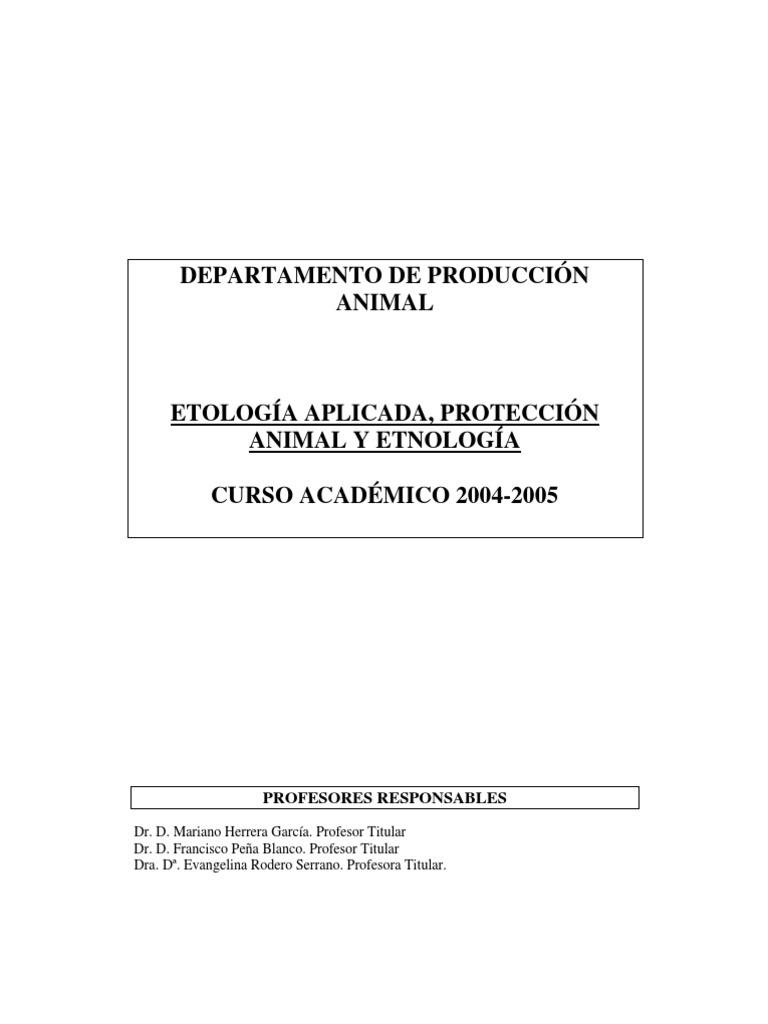Etologia, Proteccion Animal y Etnologia