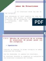 sistemas de ecuación