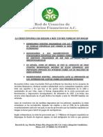 Boletín en apoyo a deudores españoles 12-XI-2012