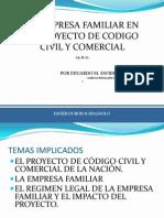 Empresa Familiar en El Proyecto de Codigo Unificado. San Juan