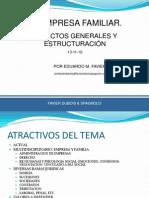 Empresa Familiar. Aspectos Generales y Estructuracion. San Juan