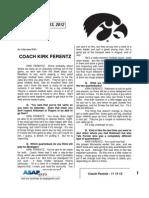 Coach Ferentz - 11 13 12