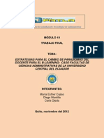 Estrategias b-learning FCA UCE