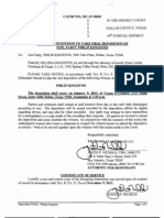 11132012 - Defendant -Notice to Take Oral Dep -- Phillip Kingston - Kingston vs Adelman, Dallas County, Texas - DC1210604
