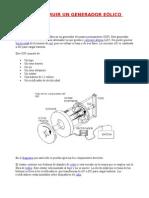 Fabricar Un Generador Eolico