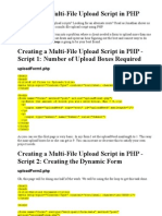 Creating a Multi-File Upload Script in PHP