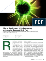 Clinical Applications of Radiofrequency Lesioning for Back and Neck Pain