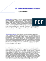 Cfp, Canadian Investors Mistreated in Poland (David Dastych)
