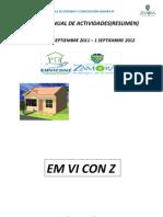 Informe Emviconz Periodo Sep 2011 Sep 2012