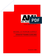 AMI Model 227 Power Supply Operator Training Guidelines