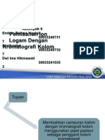 Pemisahan Ion Logam Dengan Kromatografi Kolom