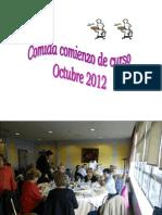 Presentación comida octubre 2012