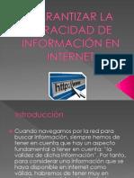 Garantizar la veracidad de información en internet