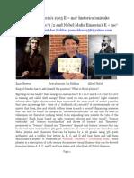 Albert Einstein 1905 E = mc2 historical mistake