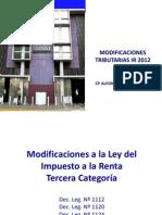 Modificaciones Renta 2012