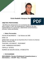 CV Erick R. Vazquez Monroy